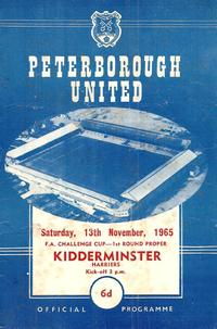 1965-11-13 - Posh v Kidderminster Harriers - FA Cup R1