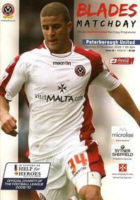 2009-10 Sheff Utd v Posh programme