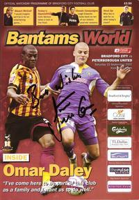 Bradford v Posh 2007-08 programme