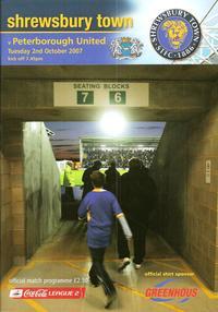 Shrewsbury v Posh 2007-08 programme