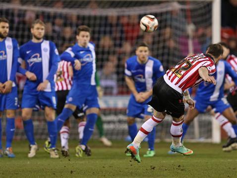 Ben Davies opening goal for Sheff Utd
