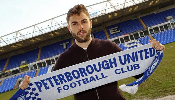 Josh McQuoid signs on loan for Posh - 12-Feb-2014