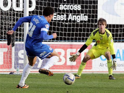 Nicky Ajose goal v Crewe