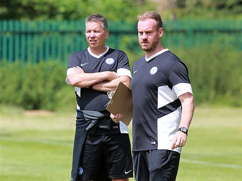 Pre-Season Day 1 afternoon session - Darren Ferguson and Chris Burton