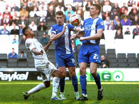 Ben Nugent and Tommy Rowe v MK Dons