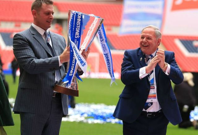 Darragh MacAnthony and Barry Fry with JPT
