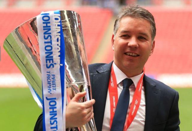 Darren Ferguson with JP Trophy