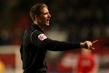 Referee Darren Sheldrake