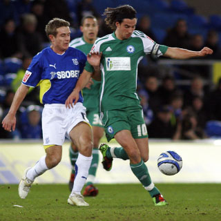 George Boyd with Jake Livermore in background v Cardiff