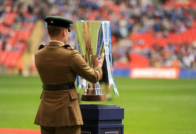 Johnstones Paint Trophy on Wembley pitch