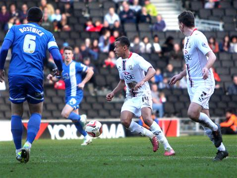 Michael Bostwick and Tommy Rowe v MK Dons