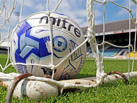Posh Mitre matchball in net
