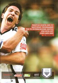 Preston v Posh 2009-10 programme