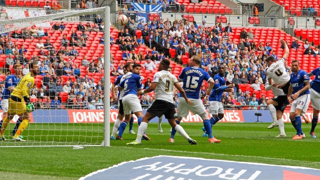 Shaun Brisley scores 2nd goal v Chesterfield - JPT Final