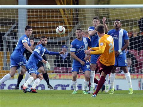 Bradford goal v Posh