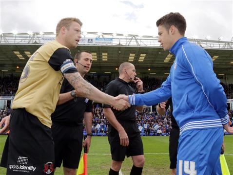 Captains handshake