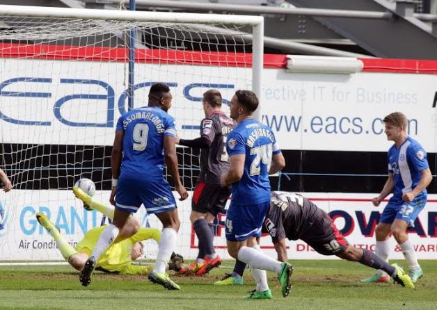 Conor Washington opens scoring v Carlisle