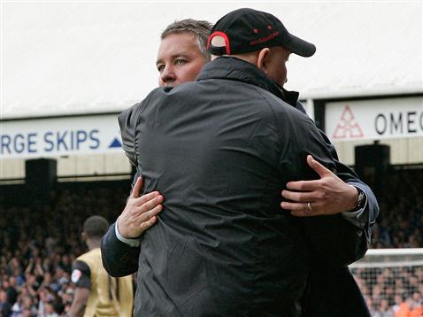 Darren Ferguson and Leyton Orients Russell Slade