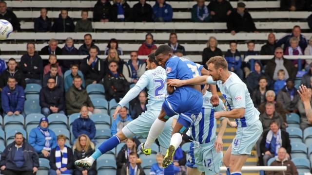 Kgosi Ntlhe scores the only goal v Coventry