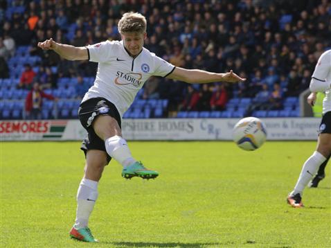 Lloyd Isgrove shoots v Shrewsbury