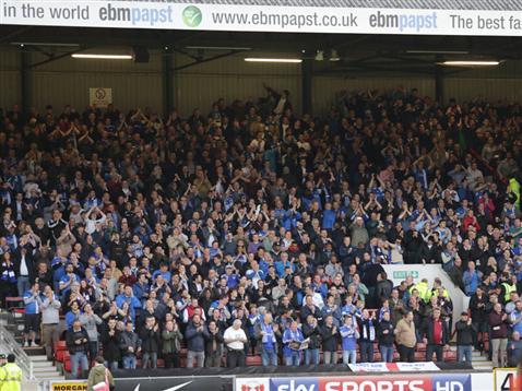 Posh fans at Leyton Orient