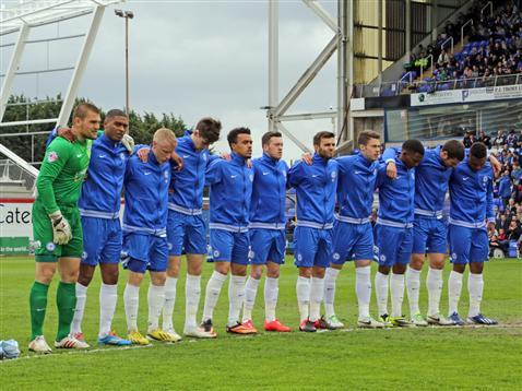 Posh team minute silence