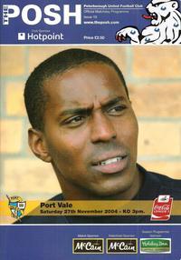 2004-05 Posh v Port Vale programme