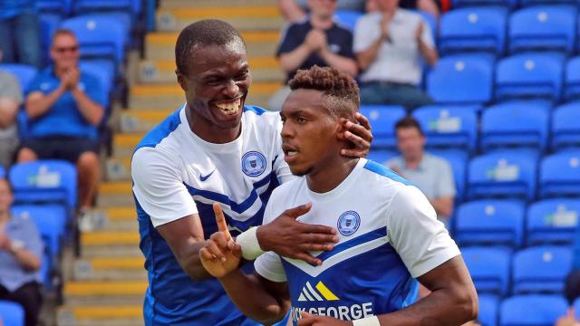Gaby Zakuani celebrates Britt Assombalongas equaliser v Brighton