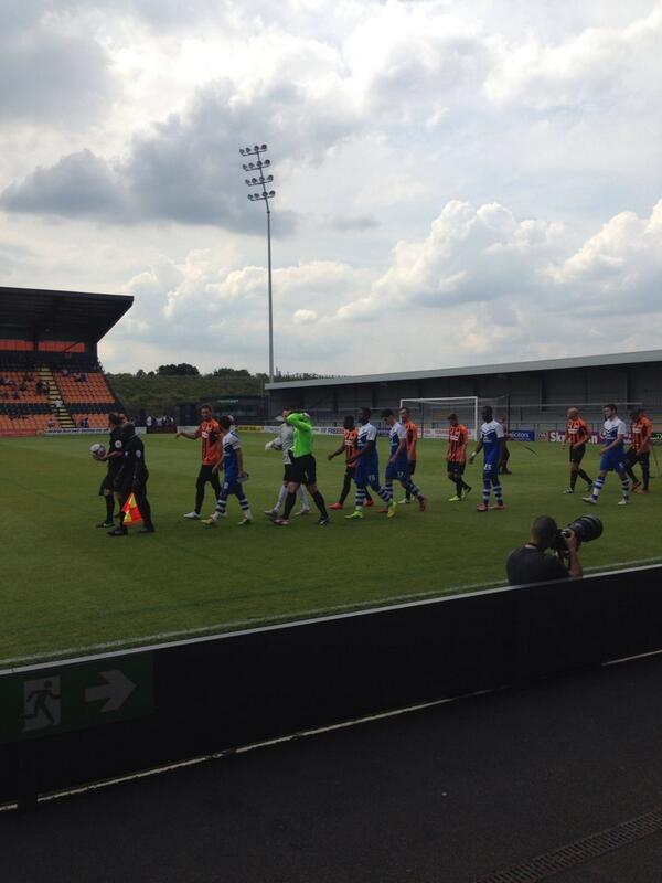 Barnet and Posh enter the pitch