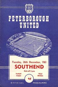 26-12-1961 - Posh 4-1 Southend - Third Division programme