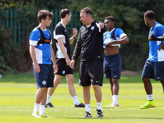 First training session at Posh for Kenny McEvoy