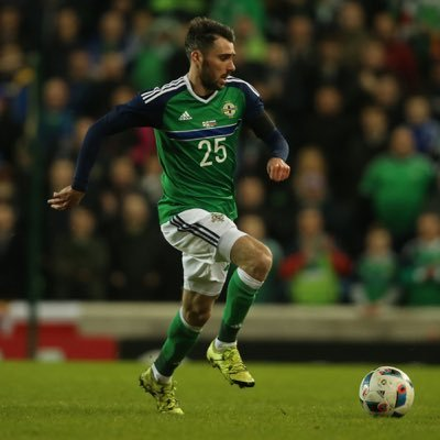 Michael Smith on his Northern Ireland debut v Slovenia