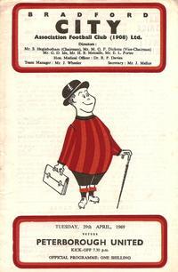 1968-69 Bradford City v Posh programme