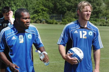 Craig Mackail-Smith and Aaron McLean reunited at Posh