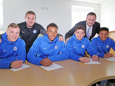 Youngsters pen pro deals