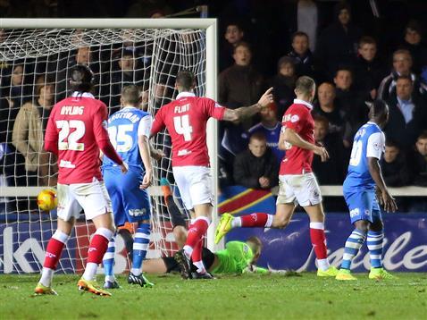 Ben Alnwick concedes goal number 3 v Bristol City