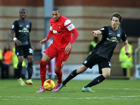 Christian Burgess v Shaun Batt of Leyton Orient 2