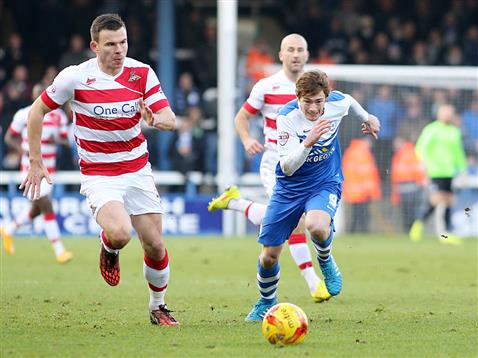 Luke James chases another ball v Doncaster