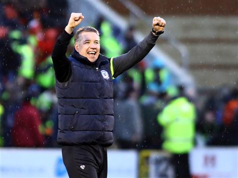 Darren Ferguson celebrates late winner v Leyton Orient