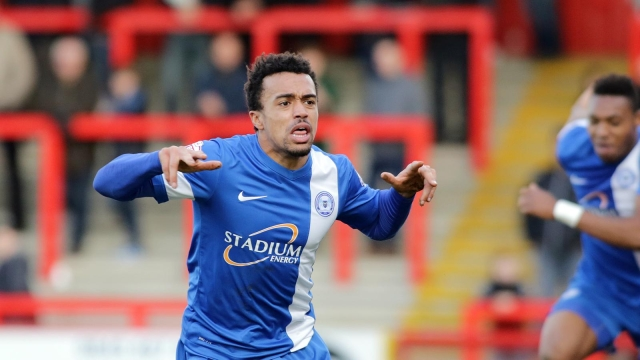 Nicky Ajose celebrates winning goal v Stevenage