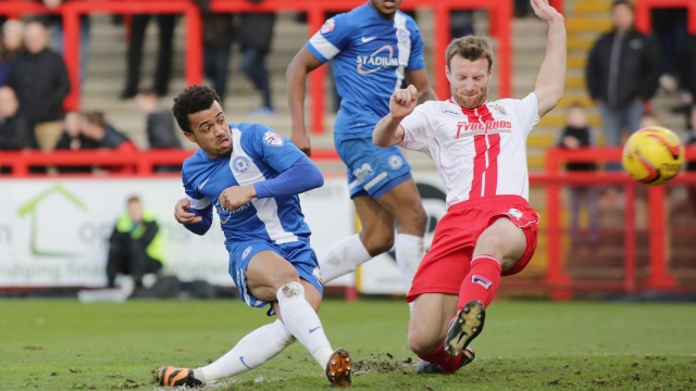 Nicky Ajose scores winning goal v Stevenage