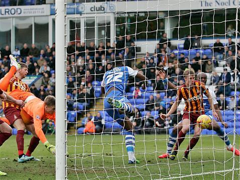 An own goal gives Posh the lead v Bradford