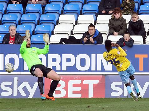 Ben Alnwick concedes the only goal of the game v Coventry