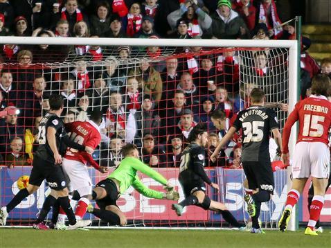 Ben Alnwick fails to stop goal 1 v Bristol City