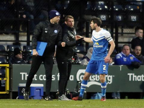 Captain Michael Smith receiving instructions v Notts County