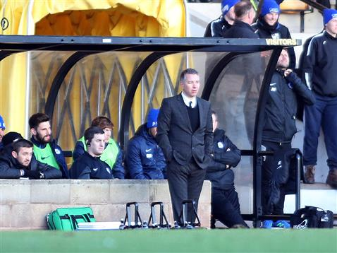 Darren Ferguson alone in the dugout v Port Vale