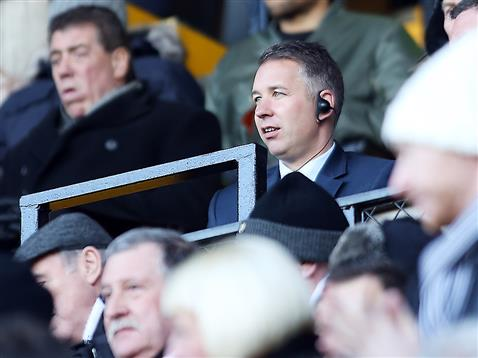 Darren Ferguson sat in the stand v Notts County