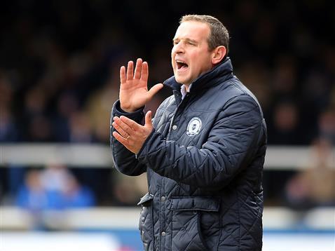 Dave Robertson encourages Posh v Bradford