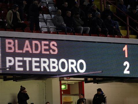 Final score - Sheffield United 1-2 Posh