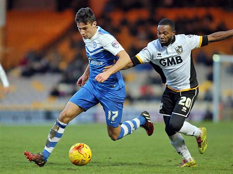 Joe Newell v Port Vale 2